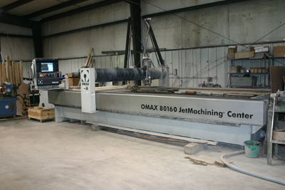 Click to learn more about the OMAX Waterjet Cutting System!